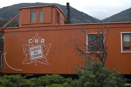 CNR caboose at Lytton, BV