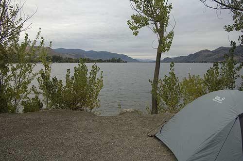 campsite at Haynes Point, Osoyoos, BC