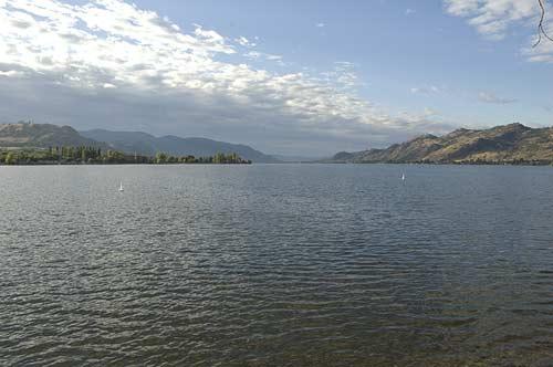 view down Osoyoos Lake