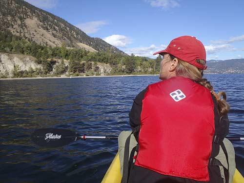 kayaking on Okanogan Lake