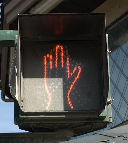 walk sign, Kelowna, BC