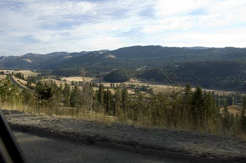 road leaving Rock Creek BC