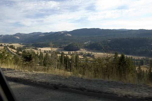 road leaving Rock Creek BC