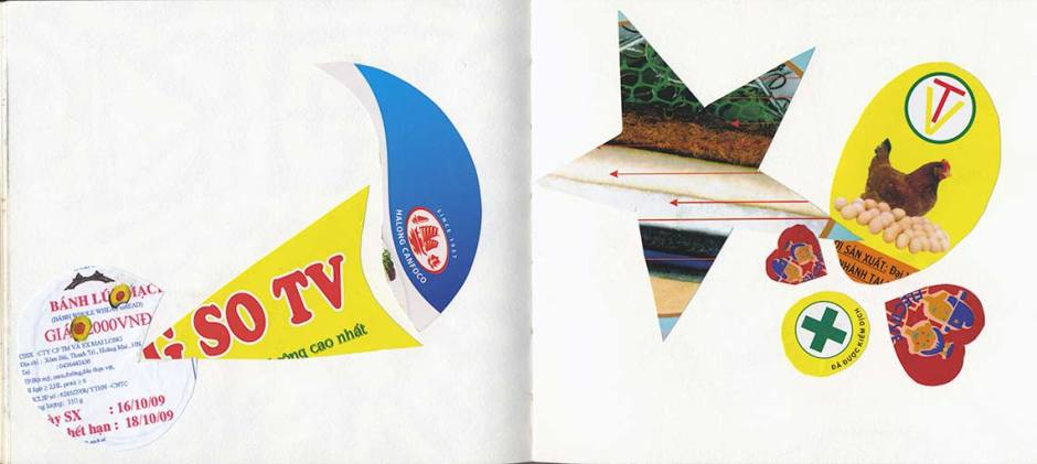 Vietnam food label collage