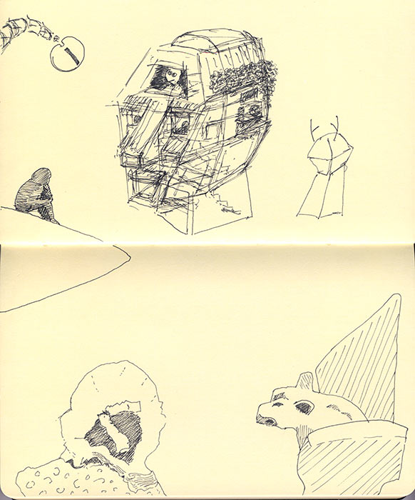 Kelly Irving sketchbook pages