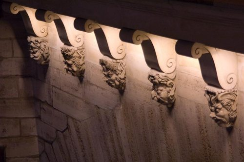 Paris bridge sculptures