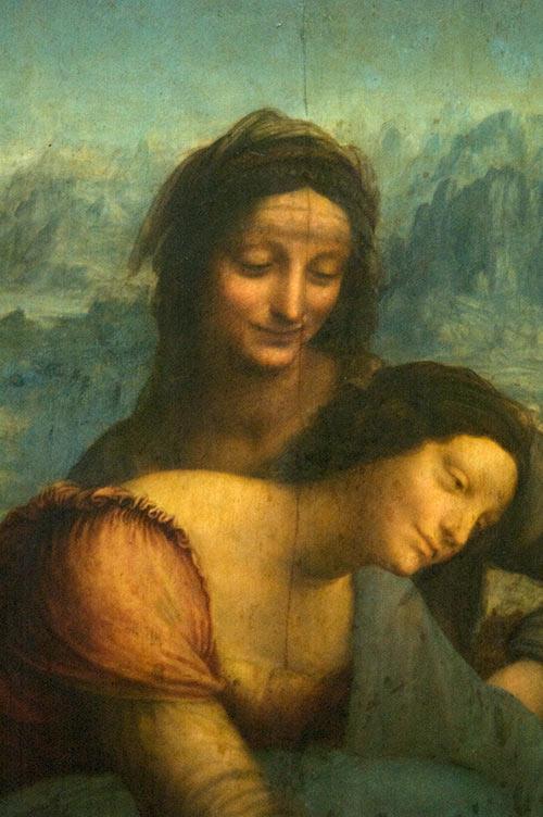The Virgin and Child with Saint Anne by Leonardo Da Vinci