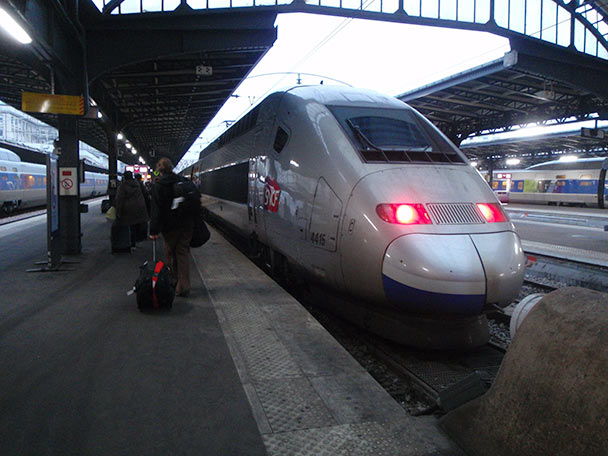 leaving Paris by train
