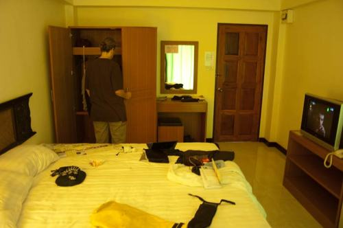 Silver Gold Hotel room, Bangkok, Thailand