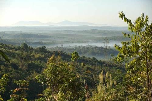 view from Golden Rock, Myanmar