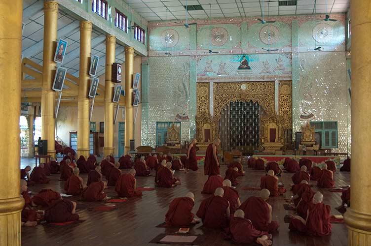 monastery in Bago, Myanmar