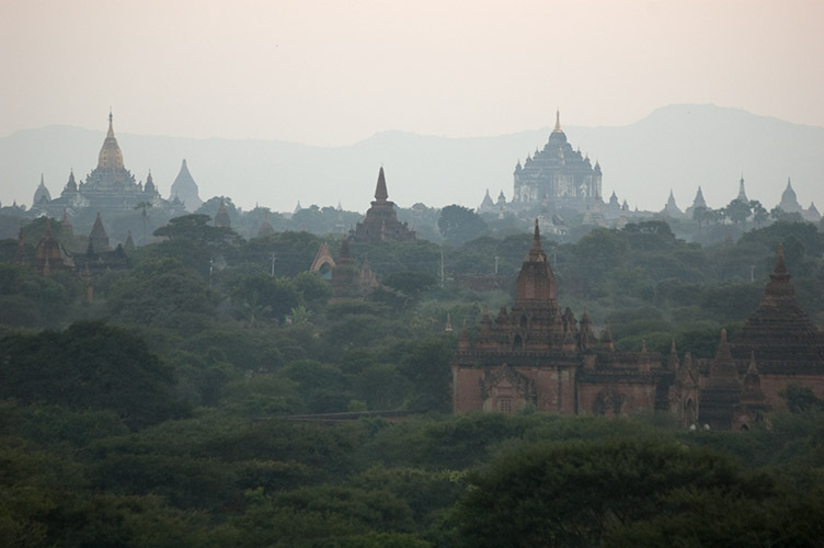 sunset view at Bagan, Myanmar