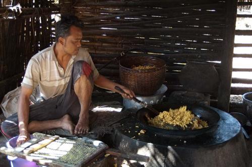 making tofu near Inle Lake, Myanmar