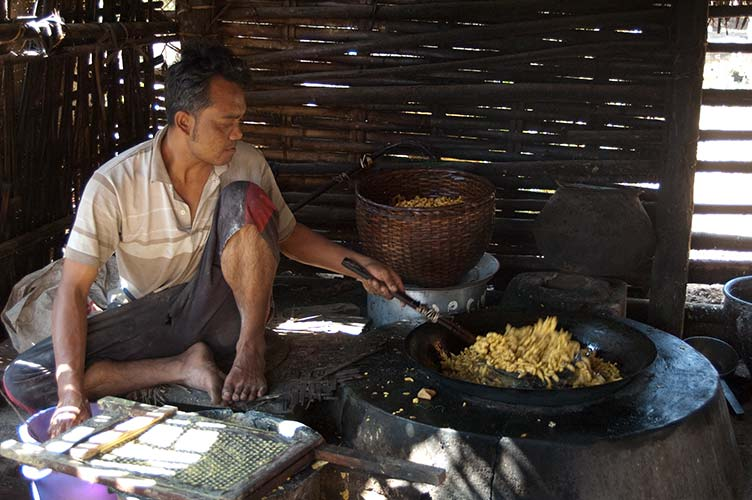 making tofu near Inle Lake, Myanmar