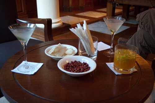 drinks at the Strand Hotel, Yangon, Myanmar