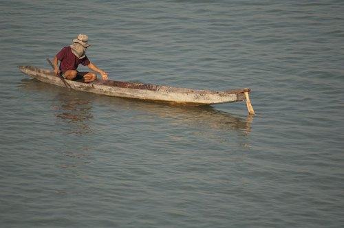 fishing on the Mekong River, Champasak, Laos