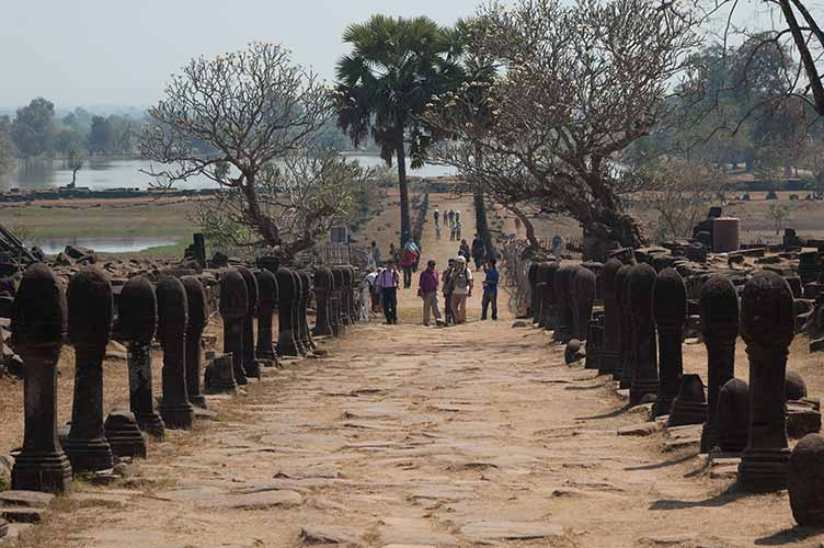 walkway up Wat Phu Champasak, Laos