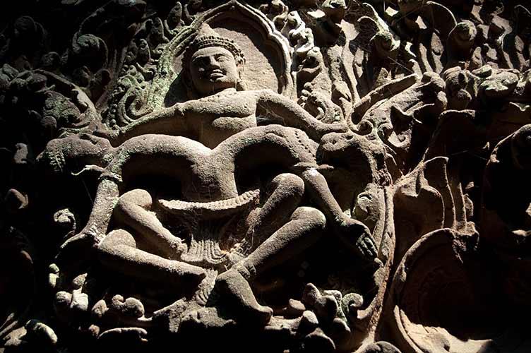 Shiva carving, Wat Phu Champasak, Laos