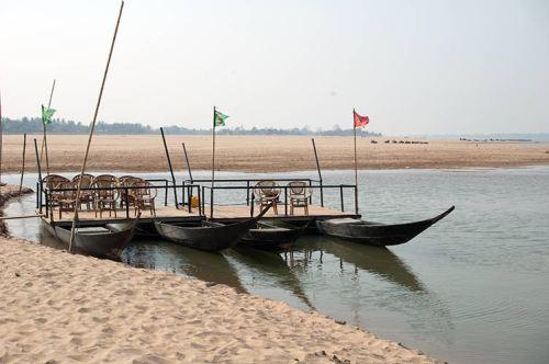 catamaran on beach, Don Daeng, Laos