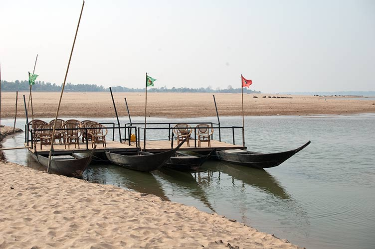 catamaran on beach, Don Daeng, Laos