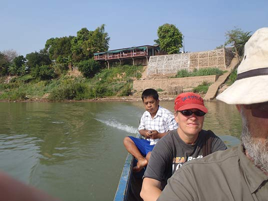 boat from Champasak to Don Daeng