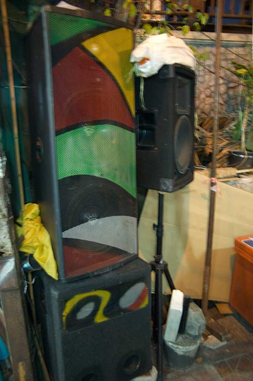 street speaker system, Bangkok, Thailand