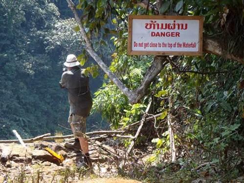 at the top of Tad Yuang, Laos