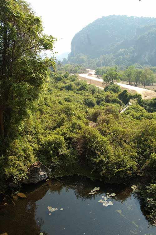 view from Buddha Cave, Tha Khaek, Laos