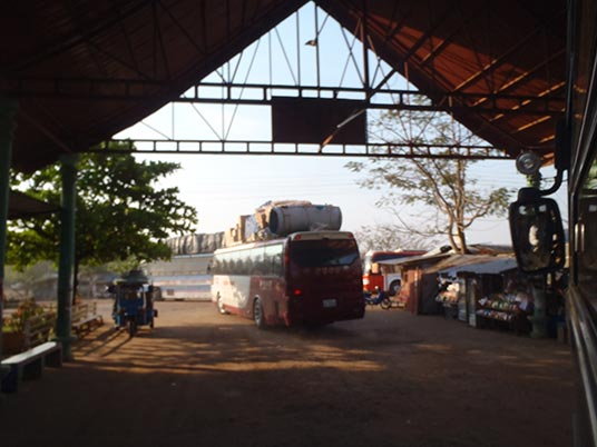 leaving Pakse, Laos by bus