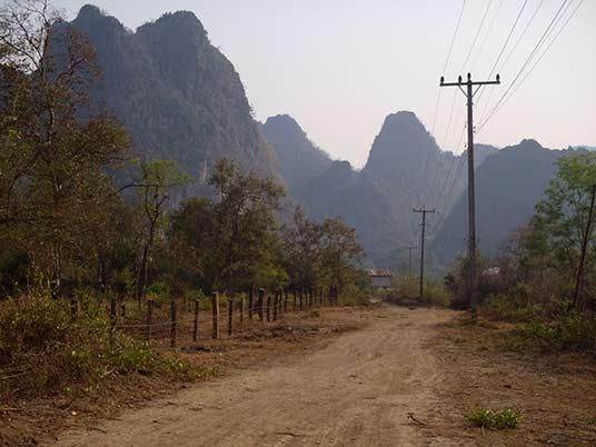 karst landscape, Tha Khaek, Laos