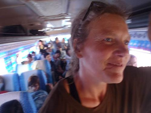 on the bus to Thailand