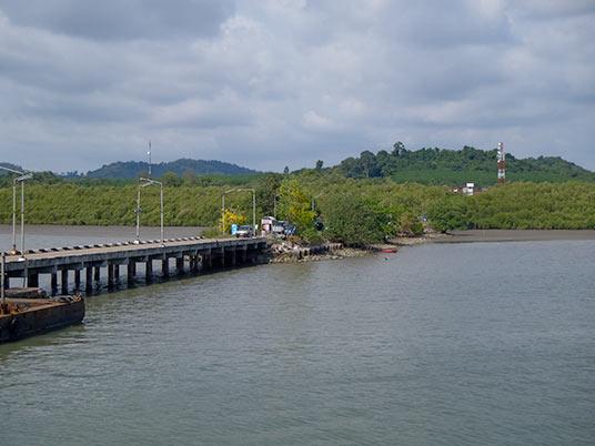 ferry terminal near Trat, Thailand