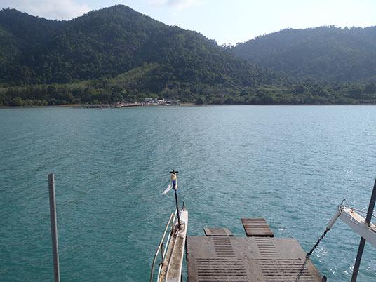 arriving at Kho Chang, Thailand