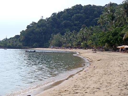 beach at Bang Bao, Koh Chang, Thailand