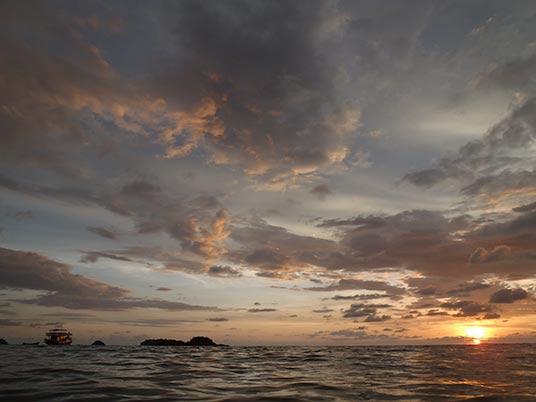 sunset, Khong Prao, Koh Chang, Thailand