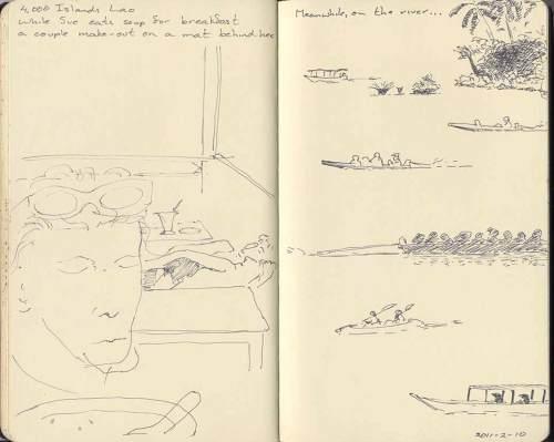 sketches of 4000 Islands scenes