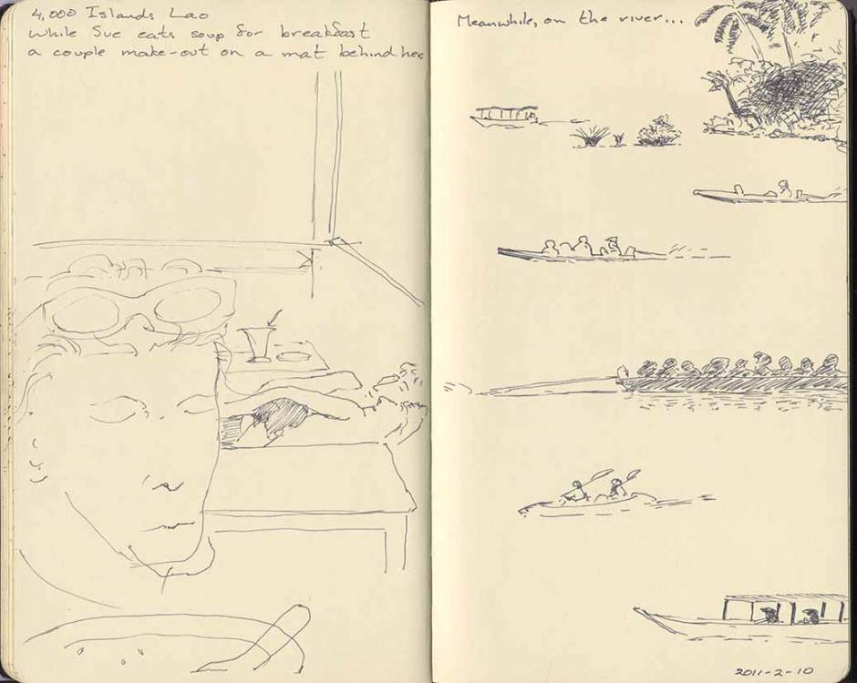 sketches of 4000 Islands scenes