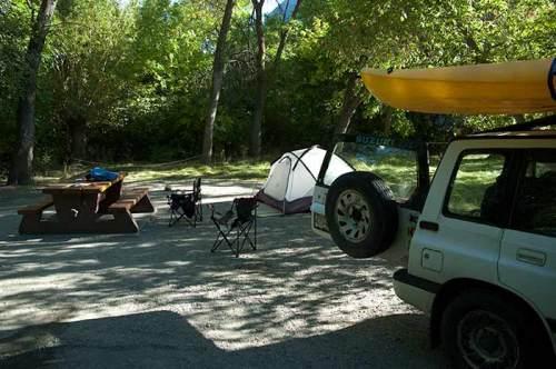 campsite at Okanagan Falls Provincial Campground