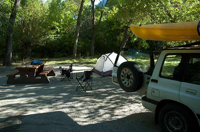 campsite at Okanagan Falls Provincial Campground