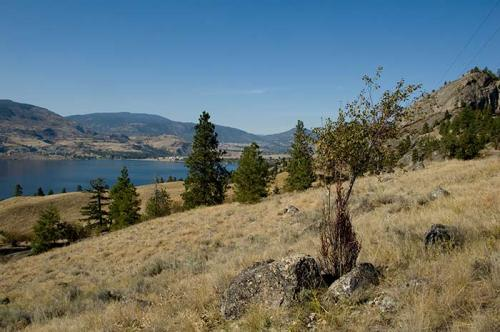 view from Skaha Bluffs over Skaha Lake