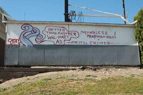 graffiti in Oliver, BC