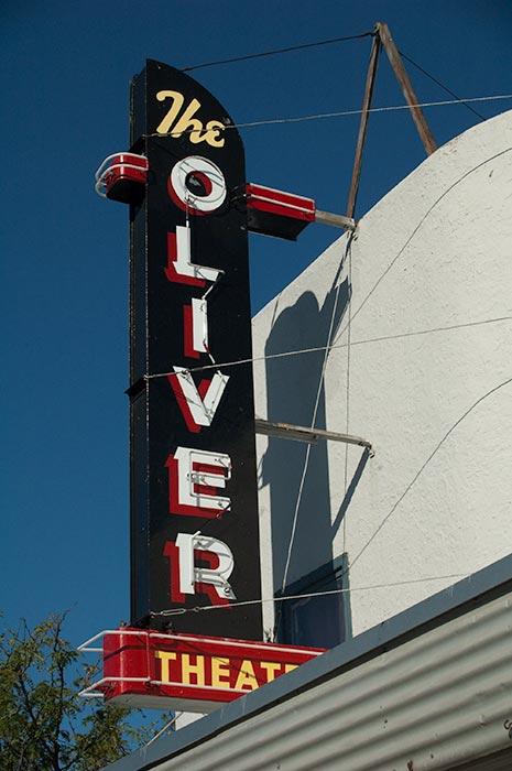 Oliver Theatre sign, Oliver, BC