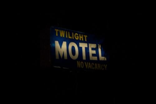 Twilight Motel sign, Okanagan Falls, BC