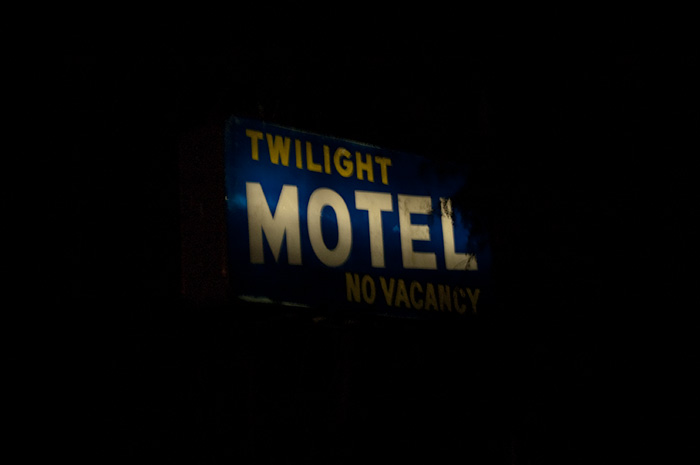 Twilight Motel sign, Okanagan Falls, BC