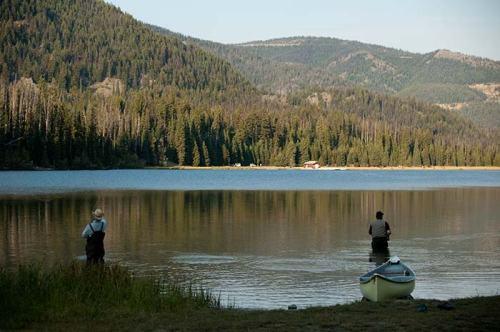 fishing on Lightning Lake, Manning Park, BC
