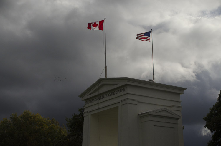 stormy weather at the Blaine border crossing