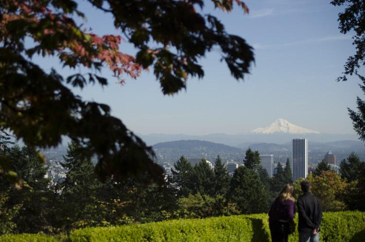 Mount Hood from Washington Park