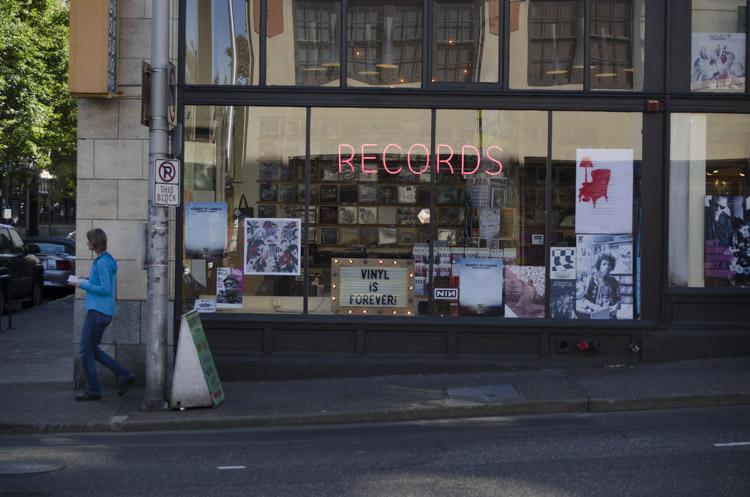 record store in Portland