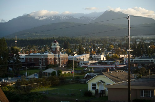 view to the south from Port Angeles Inn