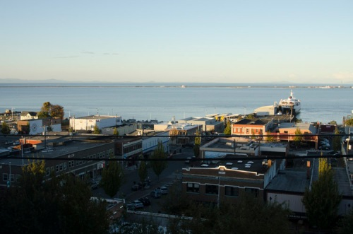 view to the north from Port Angeles Inn